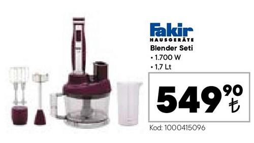 Fakir Blender Seti 1700 W 1,7 lt image