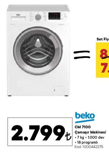 Beko CM 7100 7 kg 1000 Dev Çamaşır Makinesi image