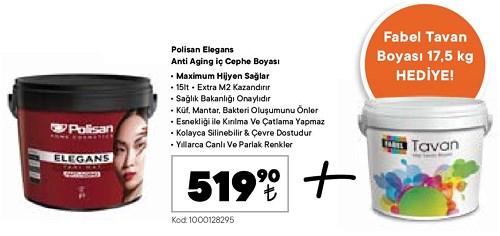 Polisan Elegans Anti Aging İç Cephe Boyası 15 lt+Fabel Tavan Boyası 17,5 kg  image