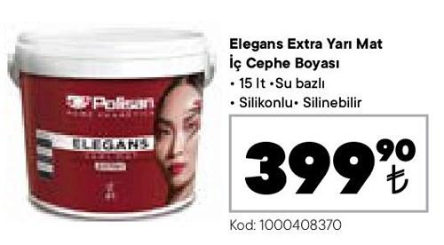 Elegans Extra Yarı Mat İç Cephe Boyası 15 lt image