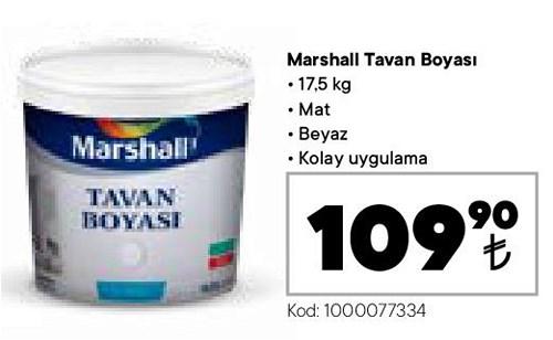Marshall Tavan Boyası 17,5 kg Mat Beyaz image