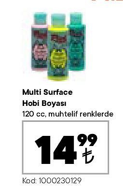 Multi Surface Hobi Boyası 120 cc image