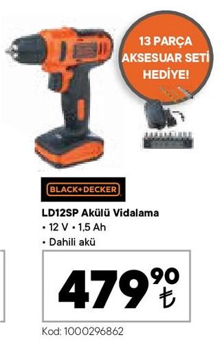 Black+Decker LD12SP Akülü Vidalama 12 V image