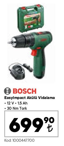 Bosch Easyımpact Akülü Vidalama 12 V image