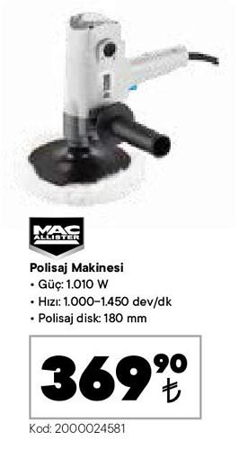 Mac Allister Polisaj Makinesi 1010 W image