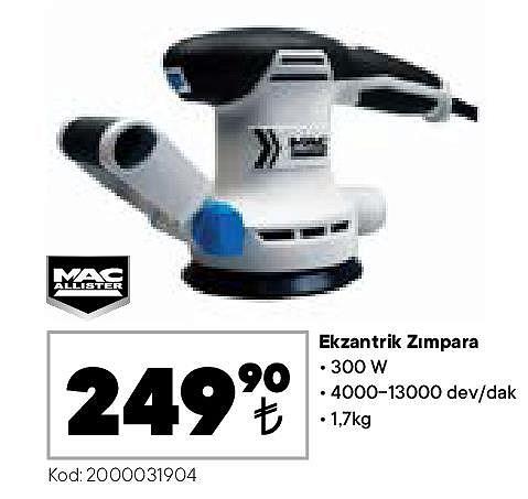 Mac Allister Ekzantirik Zımpara 300 W image
