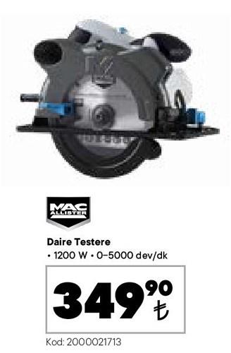 Mac Allister Daire Testere 1200 W image