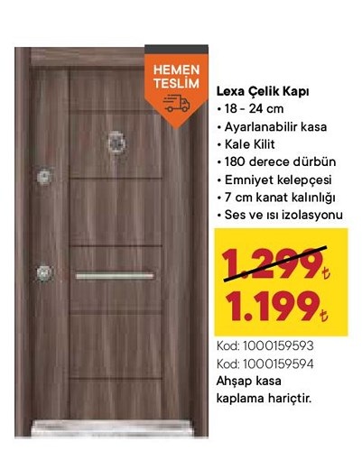 Lexa Çelik Kapı 18-24 cm image