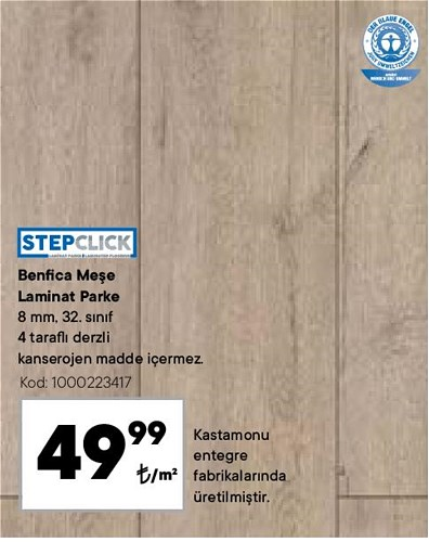 Stepclick Benfica Meşe Laminat Parke m² image