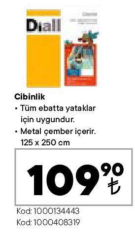 Cibinlik 125x250 cm image