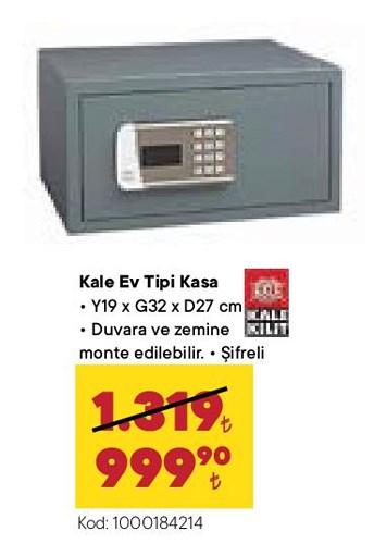 Kale Kilit Kale Ev Tipi Kasa image