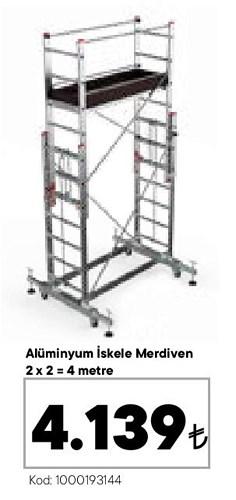 Alüminyum İskele Merdiven 2x2+4 m image