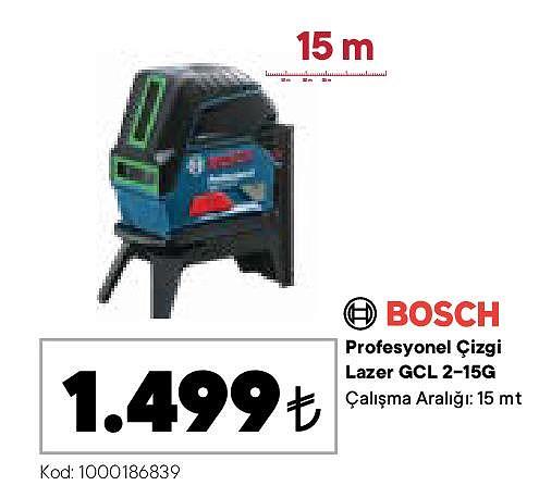 Bosch Profesyonel Çizgi Lazer GCL 2-15G image