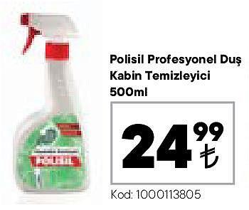 Polisil Profesyonel Duş Kabin Temizleyici 500 ml image