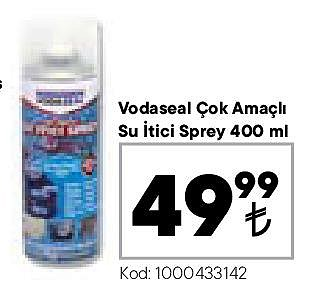 Vodaseal Çok Amaçlı Su İtici Sprey 400 ml image