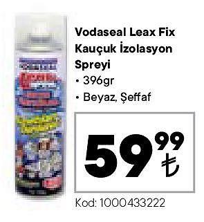 Vodaseal Leax Fix Kauçuk İzolasyon Spreyi 396 gr image