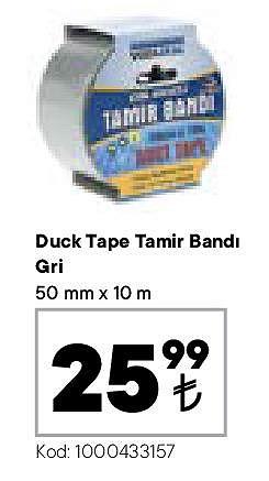 Duck Tape Tamir Bandı Gri 50 mm x 10 m image