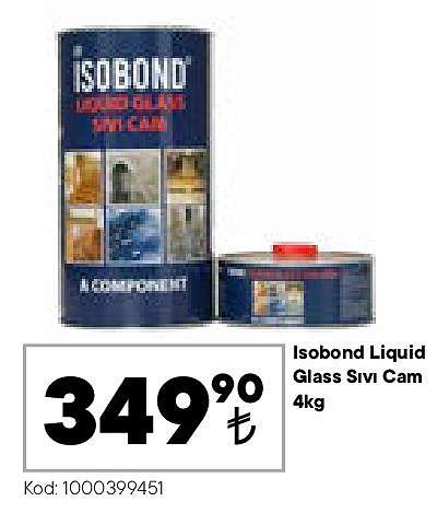 Isobond Liquid Glass Sıvı Cam 4 kg image