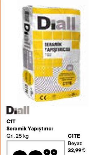 Diall C1TE Seramik Yapıştırıcı Beyaz 25 kg image
