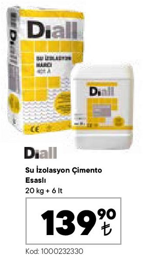 Diall Su İzolasyon Çimento Esaslı 20 kg+6 lt image