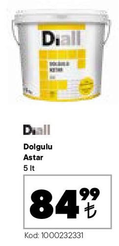 Diall Dolgulu Astar 5 lt image