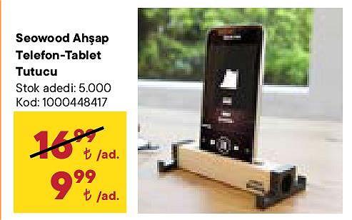 Seowood Ahşap Telefon-Tablet Tutucu image