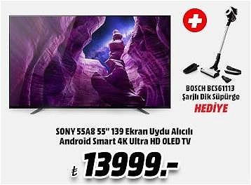 "Sony 55A8 55"" 139 Ekran Uydu Alıcılı Android Smart 4K Ultra HD OLED TV+Bosc image"
