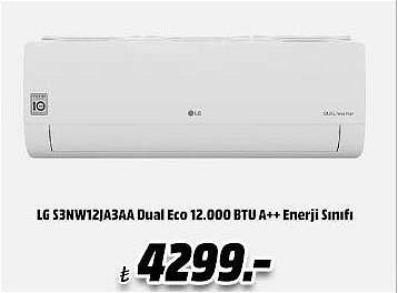 LG S3NW12JA3AA Dual Eco 12.000 BTU A++ Enerji Sınıfı Klima image