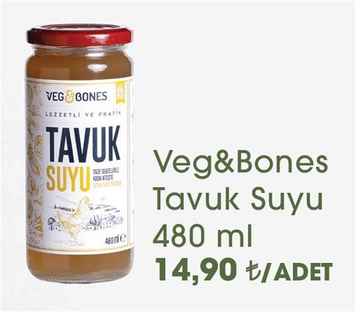 Veg&Bones Tavuk Suyu 480 ml image