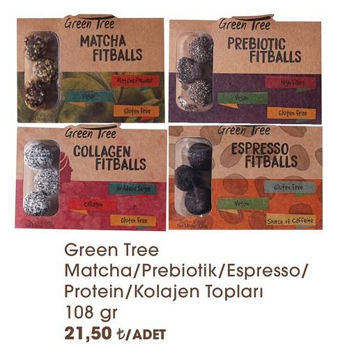 Green Tree Matcha/Prebiotik/Espresso/Protein/Kolajen Topları 108 gr image