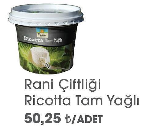 Rani Çiftliği Ricotta Tam Yağlı  image