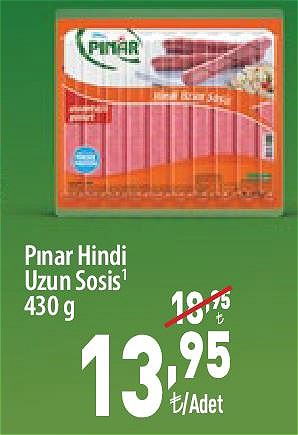 Pınar Hindi Uzun Sosis 430 gr image