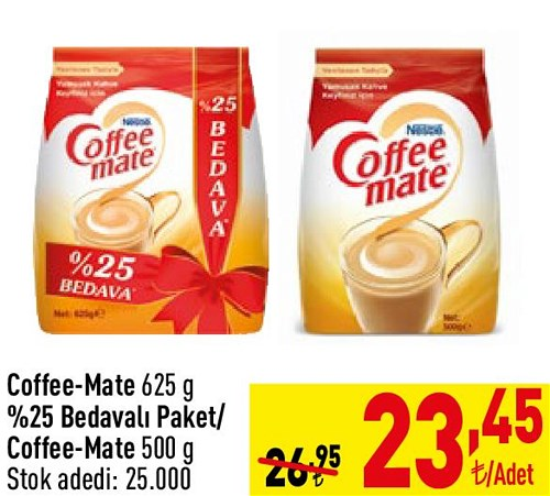 Coffee-Mate 625 g %25 Bedavalı Paket/Coffee-Mate 500 g image