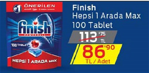Finish Hepsi 1 Arada Max 100 Tablet image