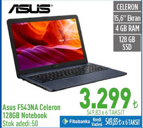 Asus F543NA Celeron 128 GB Notebook image