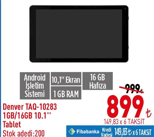 "Denver TAQ-10283 1 GB/16 GB 10,1"" Tablet image"