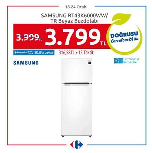 Samsung RT43K6000WW/TR Beyaz Buzdolabı image