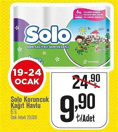 Solo Koruncuk Kağıt Havlu 6'lı  image