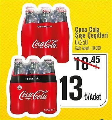Coca Cola Şişe Çeşitleri 6x250  image