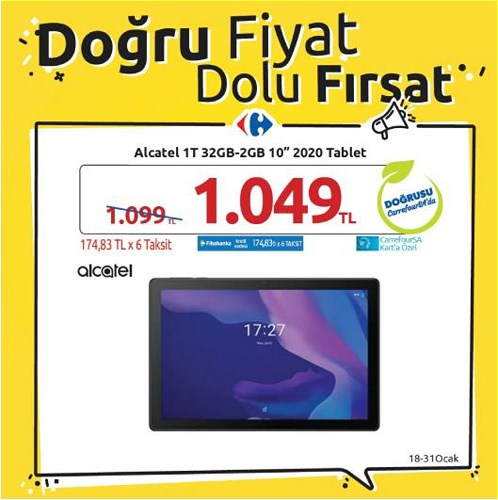 "Alcatel 1T 32 GB-2GB 10"" 2020 Tablet image"