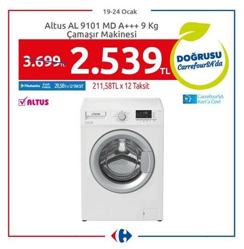 Altus AL 9101 MD A+++ 9 Kg Çamaşır Makinesi image