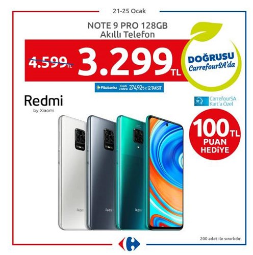 Xioami Redmi Note 9 Pro 128 GB Akıllı Telefon image