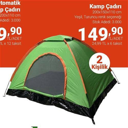 Kamp Çadırı 2 Kişilik image