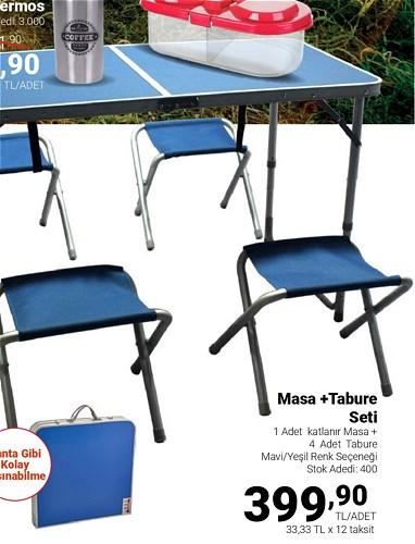 Masa+Tabure Seti image