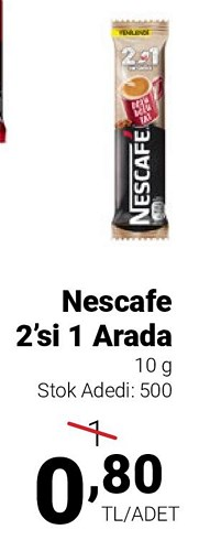 Nescafe 2'si 1 Arada 10 g image