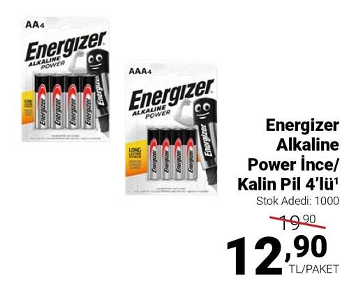 Energizer Alkaline Power İnce/Kalın Pil 4'lü image