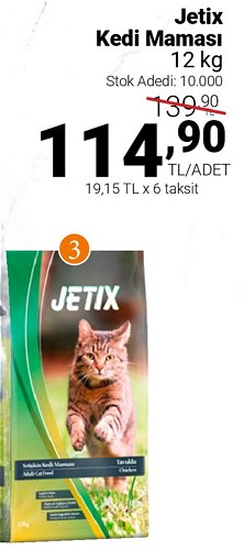 Jetix Kedi Maması 12 kg image