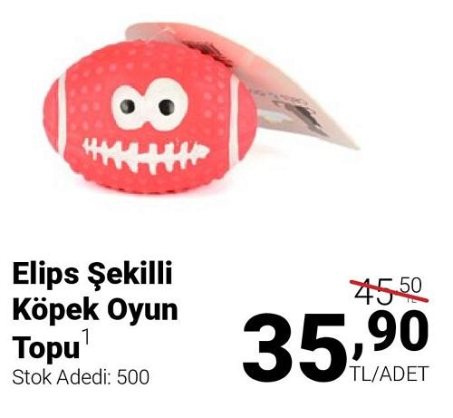 Elips Şekilli Köpek Oyun Topu image