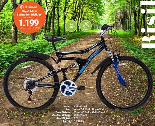 Shwarz Siyah Mavi Springeen Bisiklet 26 Jant image