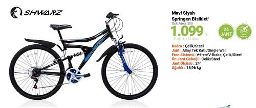 Shwarz Mavi Siyah Springen Bisiklet 24 Jant  image